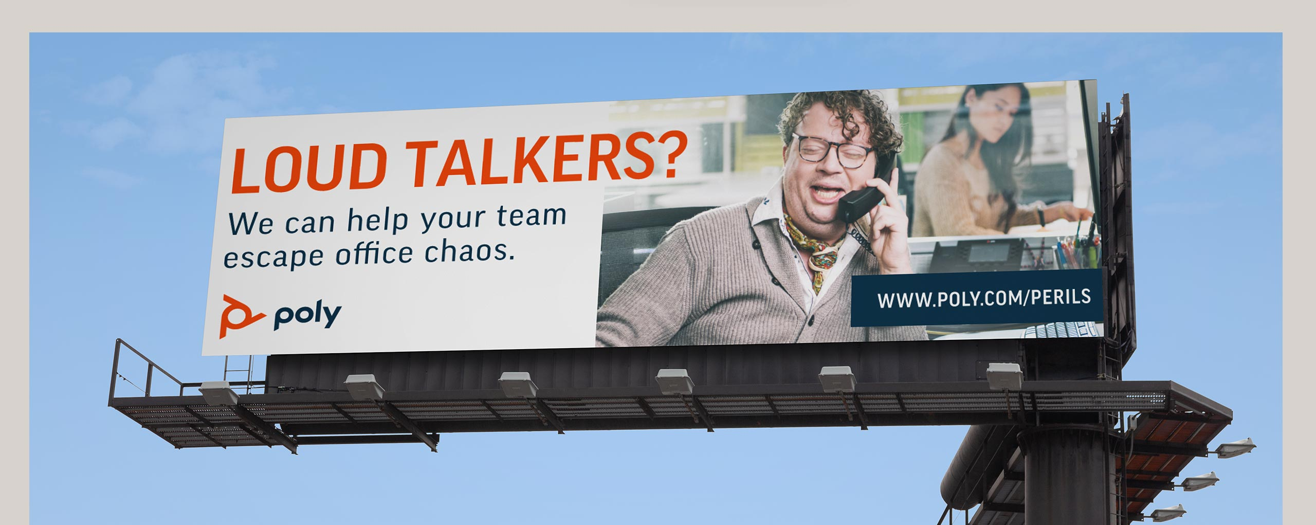 Peril's of the Open Office Campaign Billboard
